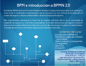 Invitación a curso BPMN 2.0