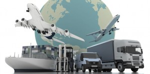 3d rendering world wide cargo transport concept